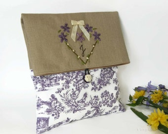 Clutch bag, Personnalized  Clutch Bag, Monogrammed Cosmetic Bag, Bridesmaid Clutch, Make Up Bag, Wedding Clutch Bag, Evening Bag, Clutch