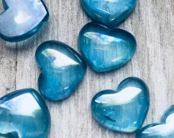 Aqua Aura Heart Small Cabochon H88