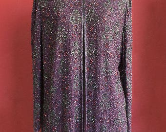 Vintage 80's pailettes evening Coat