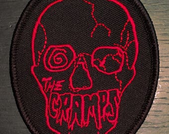 The CRAMPS 1980 Skull Patch - same as Poison Ivy - In Limited RED BLOOD Edition