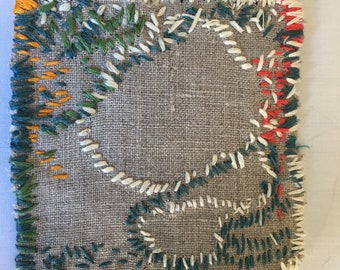 Boro Style Repair Patch B Hand Embroidery for Clothing, Bags, Quilts, Story Art Up-cycling Clothing