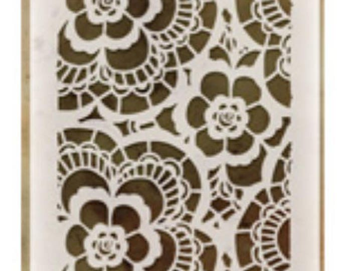 Lace layering stencil
