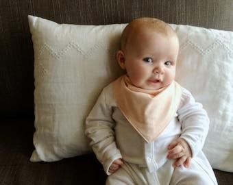 Bandana Bib   Pale Peach Drool Bib   Minimal Baby   Baby Girl Baby Boy   Handkerchief Bib   Simple Minimal Baby