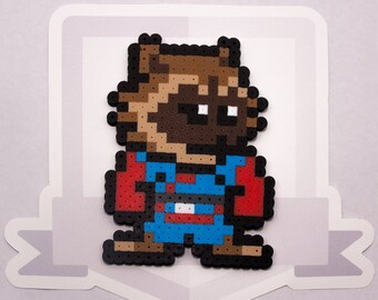 Rocket Raccoon Perler Bead Sprite Necklace || Ultimate Marvel vs Capcom 3 || Guardians of the Galaxy || Gaming, Accessory, Wearable, Gift