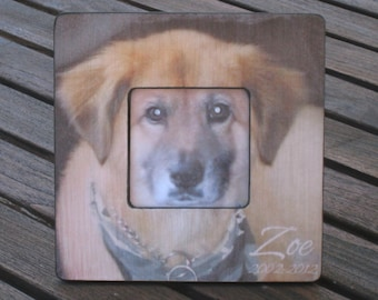 "Pet Memorial Frame, Personalized Pet Memorial Picture Frame, Custom Cat Frame, Pet Collage Picture Frame 8"" x 8"", Unique Pet Gift"