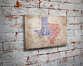 Texas Map Wall Art