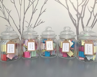 SPECIAL OFFER A Jar of Quotes - Choose from Calm, Courage, Family, Friendship, Love, Motivation and Strength - Handmade Quote Gift
