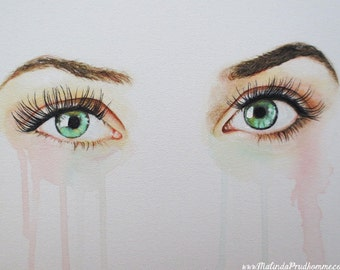 Custom Eye Painting - Realistic Eye Art - By Toronto Portrait Artist Malinda Prud'homme