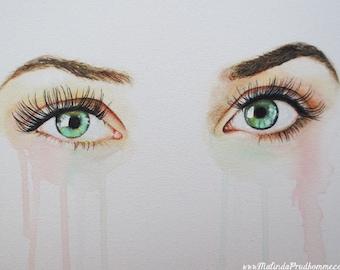 Peinture personnalisé oeil - oeil réaliste Art - par Toronto Portrait artiste martial Prud'homme