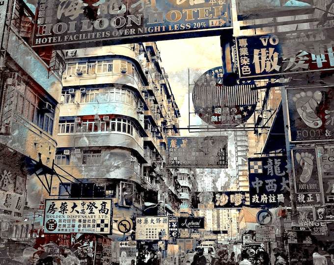 HONG KONG Downtown VI by Sven Pfrommer - Artwork is ready to hang