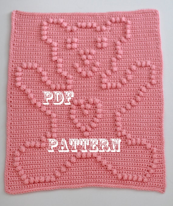 Crochet Pattern - Crochet Baby Security Blanket  - Baby Snuggle Blanket  - Teddy Bear Blanket Pattern - Car Seat or Stroller Blanket