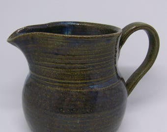 medium blue and bronze jug