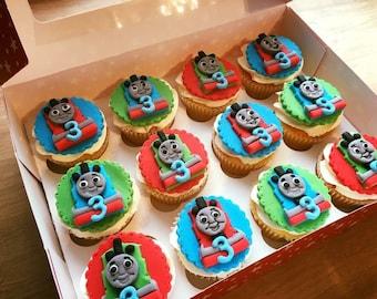 Thomas cupcake toppers