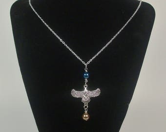 Potterhead Necklace - Blue and Bronze Eagle Necklace - Fandom Jewelry - Witch/Wizard Necklace - Jewelry for the Clever and Wise