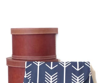 Clutch / Clutch Bag / Large Clutch Bag / Clutch Purse / Purse / Evening Bag / Handbag / Navy Blue and White