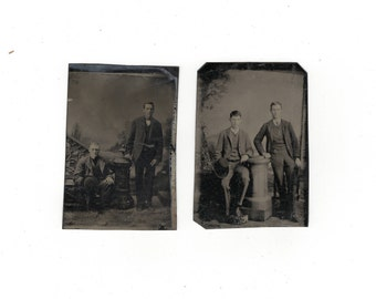 Lot of two tintypes
