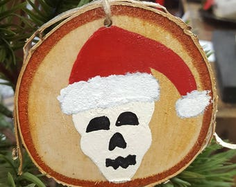 Santa Skulls Holiday Ornaments