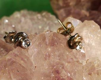 Vintage, earrings, earrings, studs, rhinestones, OC63