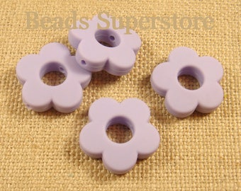 28 mm Violet Orchid Silicone Mini Flower Bead - Food Grade Teething Bead - Teething Necklace Silicone Bead