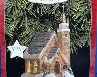 1998 The Stone Church Hallmark Retired Series Ornament
