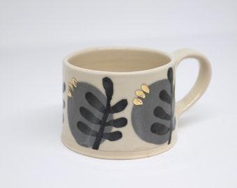 Grey Gold Mug