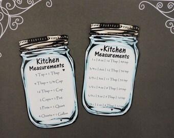 Kitchen Magnets   Country Kitchen Fridge Magnet   Baking Magnets   Kitchen Decor   Baking Gift   Mason Jar Magnet   Gift for Baker