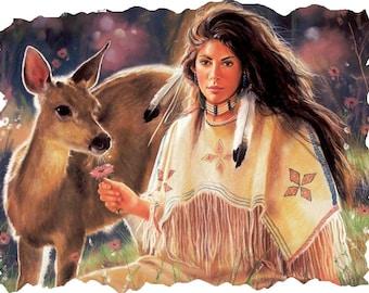 Native American  # 12  8 x 10 - T Shirt Iron On Transfer