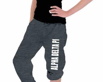 Alpha Delta Pi Sweatpants (Greek Letters or Sorority Name) ADPI Clothing