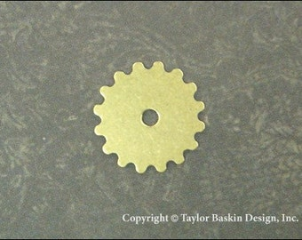 Steampunk Gears, Watch and Clock Pieces in Antiqued Polished Brass (item 3002-small AG) - 6 Pieces