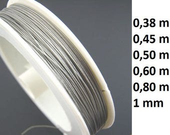 Jewelry wire, wire sheathed, jeweler wire, 0, 38mm,, 045mm, 0, 50mm, 0, 60mm, 0, 80mm, 1mm