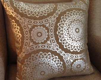 SALE - Richloom - Kendrick (Silver) - Pillow Cover Only 20 x 20 - JD Designs