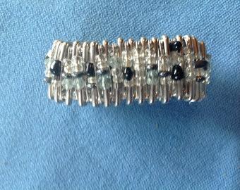 Safety pin bracelet cuff
