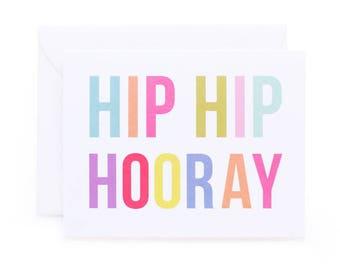 Hip Hip Hooray Birthday/Celebration Card
