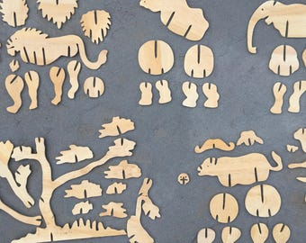 Big 5 African Animals Puzzle from Zimbabwe
