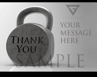 Thank You Kettle Bell Printable Digital Download Template/Postcard