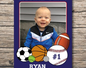 Rookie of the Year Birthday Invitation, Sports Birthday Invitation, Rookie Birthday Digital File