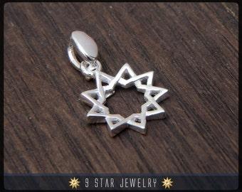 BPS3s - 925 Sterling Silver 9 Star Baha'i Pendant