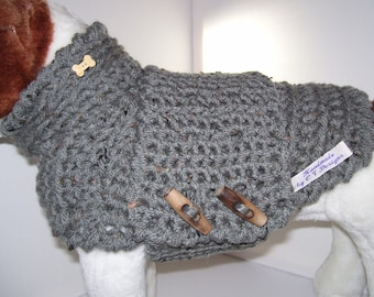 Crochet Dog Sweater, Dog Clothes, Crochet Dog Jumper, Pet Clothes For Dogs, Warm Dog Sweater, Dog Clothing, Lined Dog Sweater