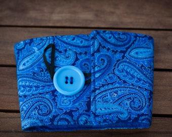 Coffee Cuff - Blue Paisley