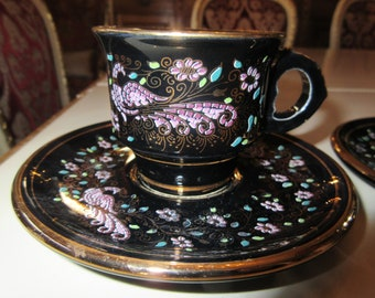 GREECE DEMITASSE CUPS and Saucers