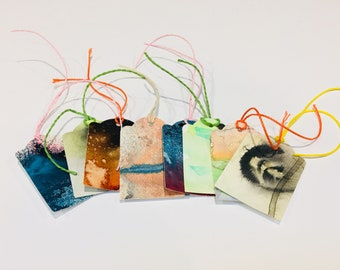 8 x Hand Painted Gift Tags