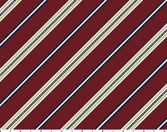 On The Green Burgundy Diagonal Stripe from Northcott by the yard