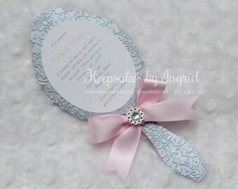 Princess mirror invitations
