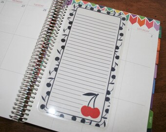 Dashboard (Size B), Coil Clip In, Laminated, Double Sided  / Erin Condren Life Planner, Limelife, Plum Paper (B19)