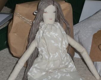 Elodie French Style Rag Doll PDF Pattern