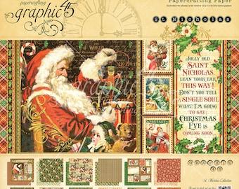 Graphic 45 St Nicholas 12x12 Pad