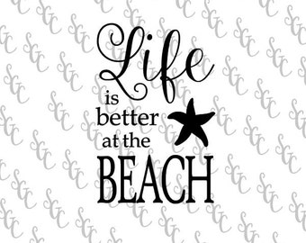 Reusable Stencil - Life is Better at the Beach - 2 sizes to choose from!