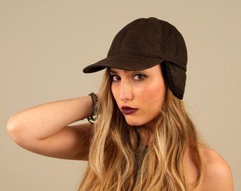 Sheepskin hat. Sheepskin cap. Real fur hat. Sheepskin. Brown fur hat. Women's fur hat. Men's fur hat. Gift for her. Gift for him. Winter hat