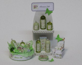 Crabtree & Evelyn Miniature perfumes, SUMMER HILL, 1/12th scale - Various displays, Exclusive, Limited.