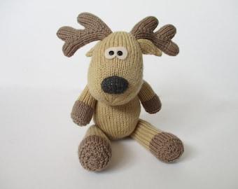 Rupert Reindeer toy knitting pattern